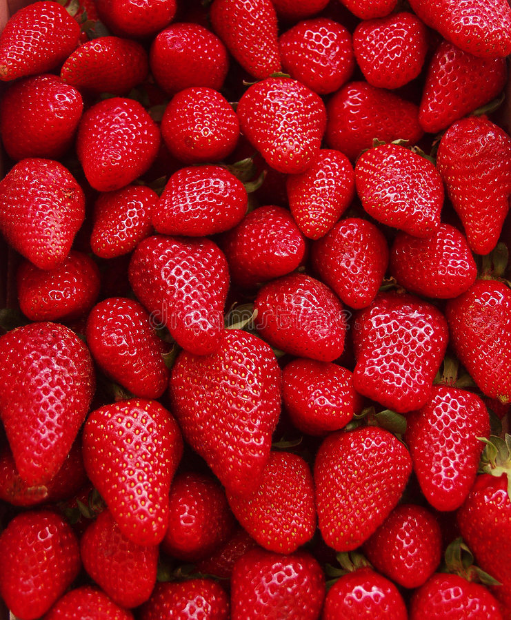 Erdbeerekasten lizenzfreie stockfotografie