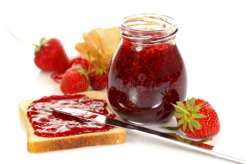 Erdbeeremarmelade stockbild