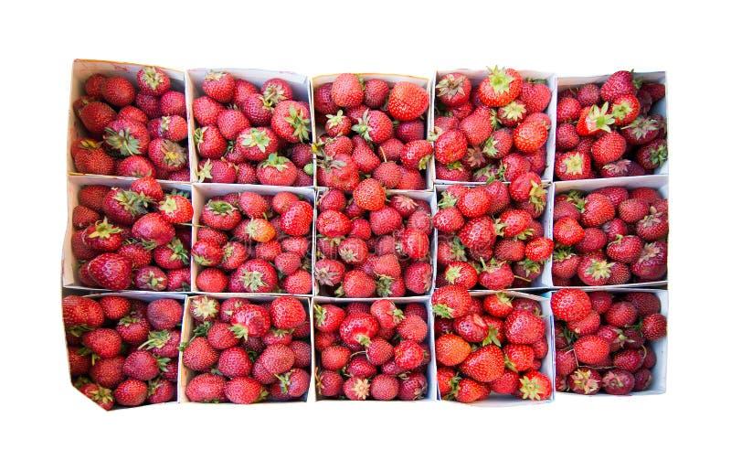 Erdbeeren für Verkauf lizenzfreie stockbilder