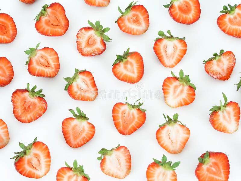 Erdbeerescheiben lizenzfreies stockfoto