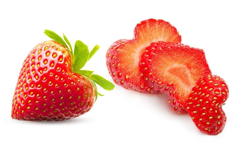 Erdbeerherz-Formbeere lizenzfreie stockbilder