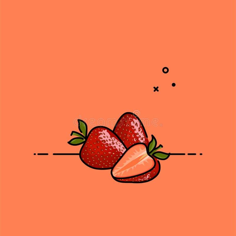 Erdbeerillustration vektor abbildung