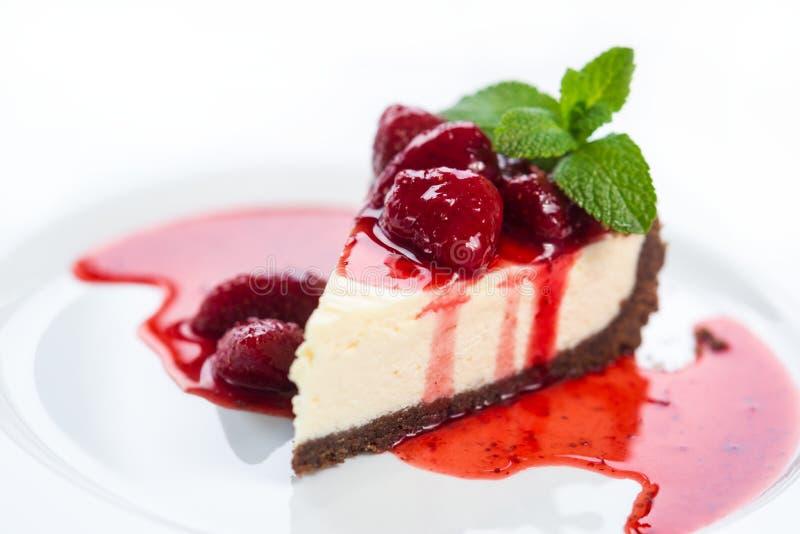 Erdbeerkäsekuchen stockfotos