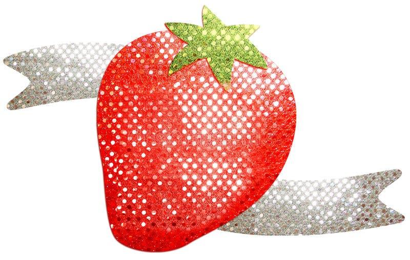 Erdbeerpaillettenbesetztes Herz lizenzfreies stockfoto