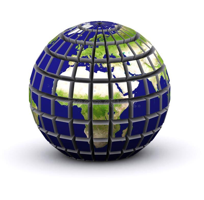 Erde 3d vektor abbildung