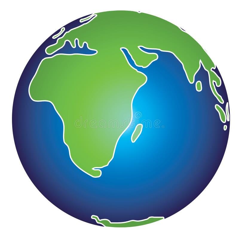 Erde-Abbildung vektor abbildung