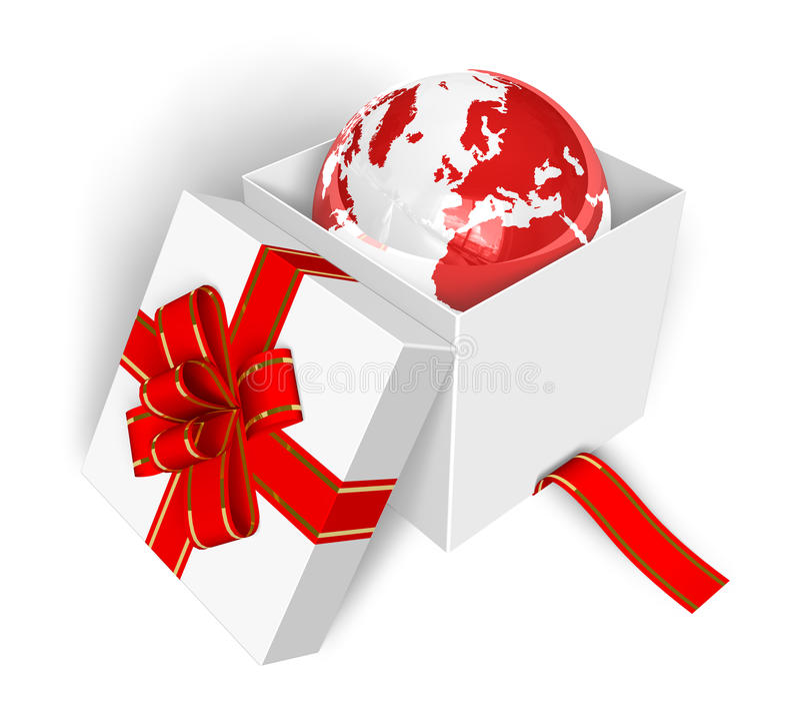 Erde als Geschenk lizenzfreie abbildung
