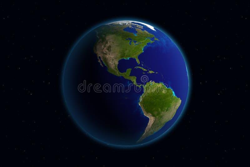 Erde - Amerika stock abbildung