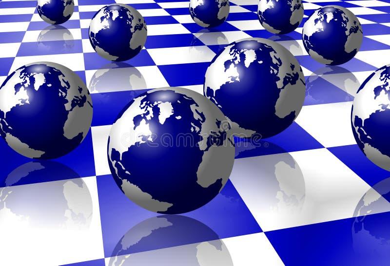 Erde auf Fußboden stock abbildung