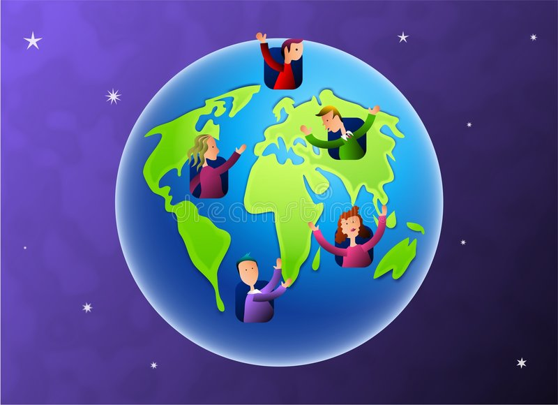 Erde-Bewohner lizenzfreie abbildung