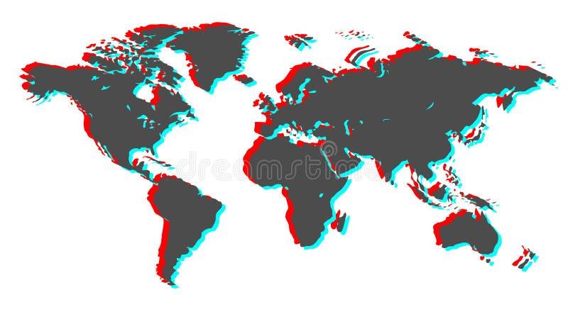 Erde 3d Regenbogen und Wolke auf dem blauen Himmel vektor abbildung