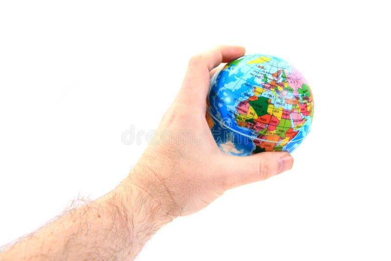 Erde in den menschlichen Händen lizenzfreie stockbilder