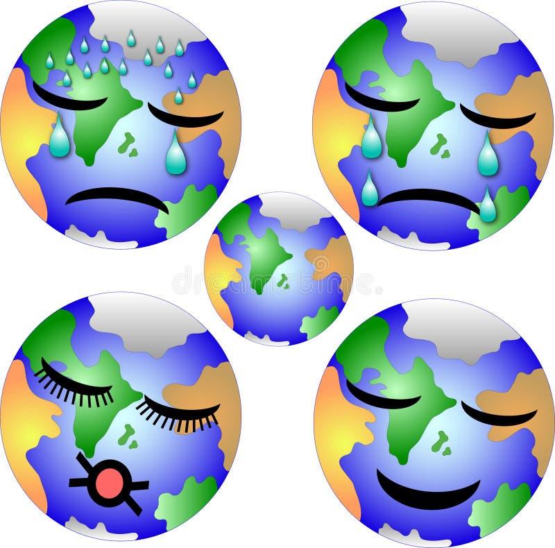 Erde in den verschiedenen Zuständen stock abbildung