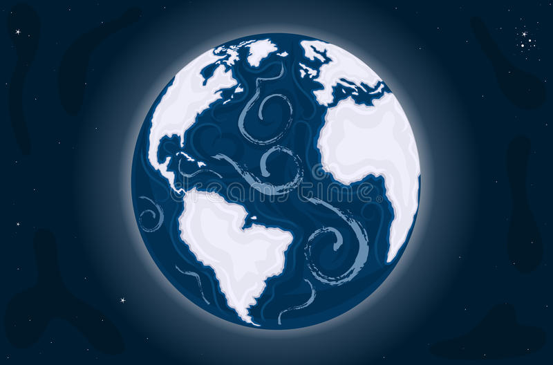 Erde - der blaue Marmor vektor abbildung