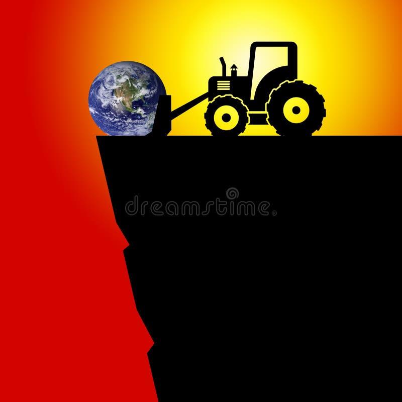 Erde in der Gefahr lizenzfreies stockfoto