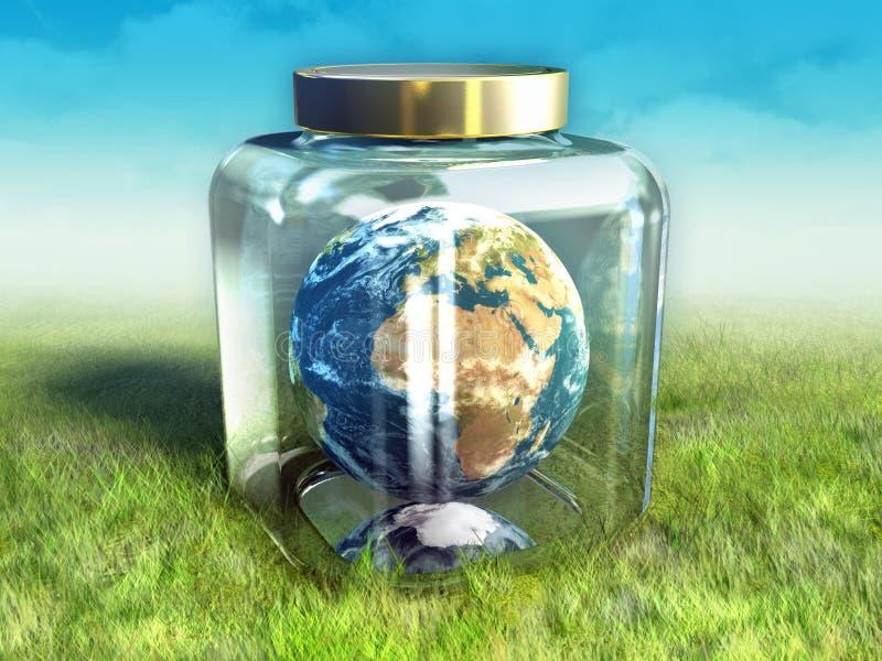 Erde-Erhaltung vektor abbildung