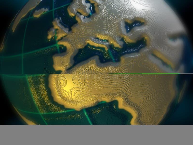 Erde - Europa und Afrika stock abbildung