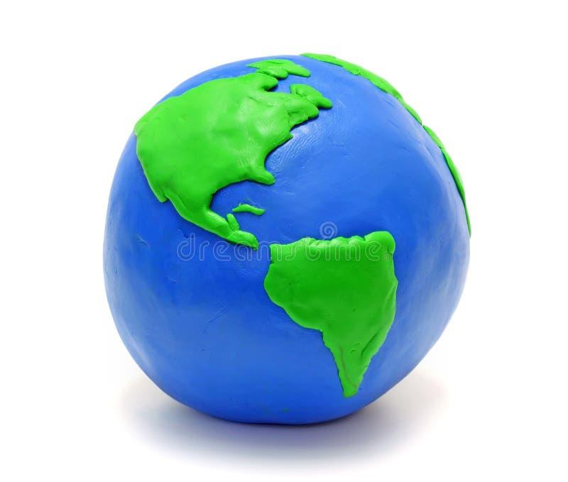 Erde gebildet vom Lehm stockbild