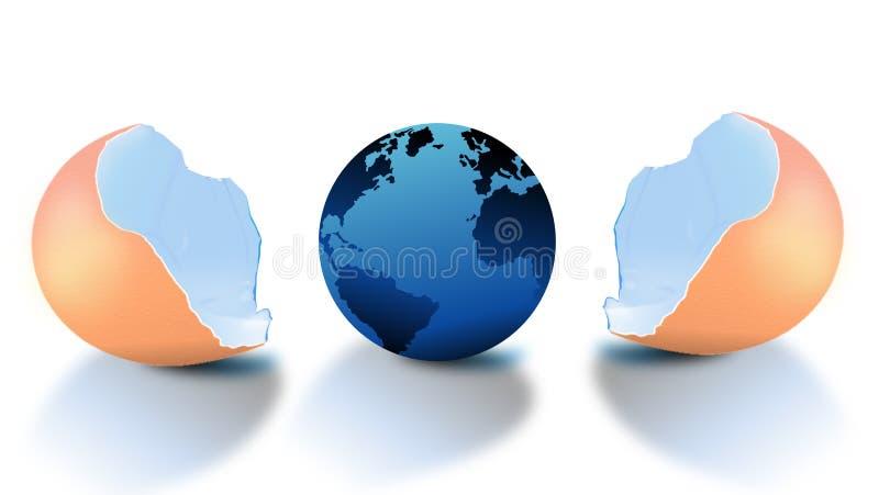Erde im Ei lizenzfreie abbildung