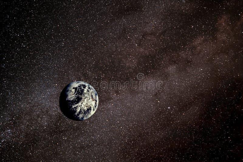 Erde im Platz lizenzfreie abbildung