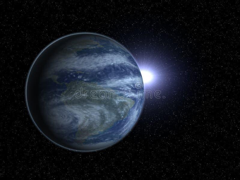 Erde im Platzplaneten lizenzfreies stockfoto