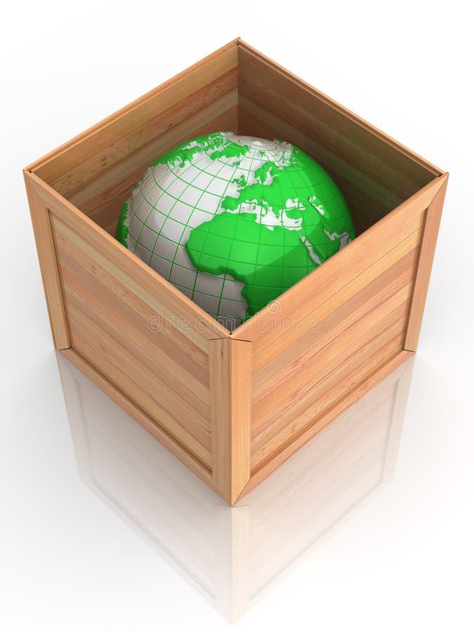 Erde im Rahmen stock abbildung