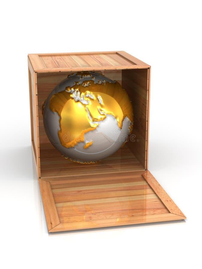 Erde im Rahmen lizenzfreie abbildung