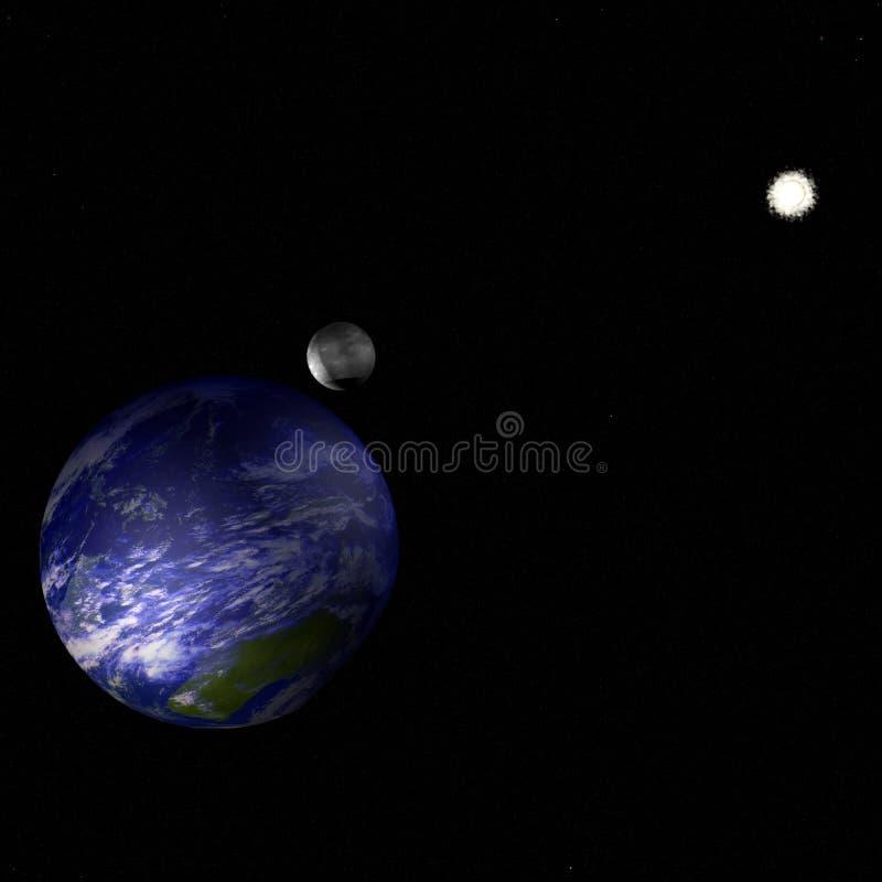 Erde im Universum vektor abbildung