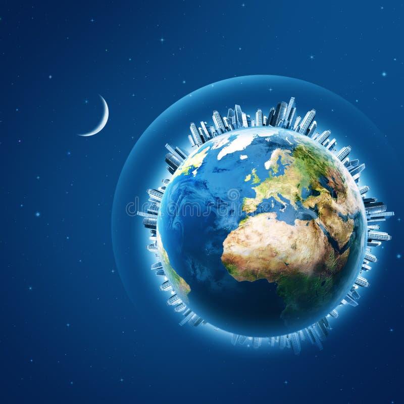 Erde ist unser Haus lizenzfreie abbildung