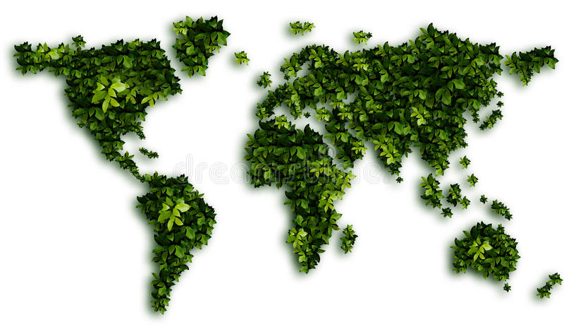Erde - Karte lizenzfreie stockfotos