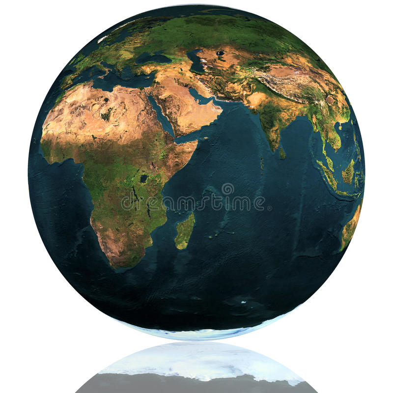 Erde-Kugel lizenzfreie abbildung