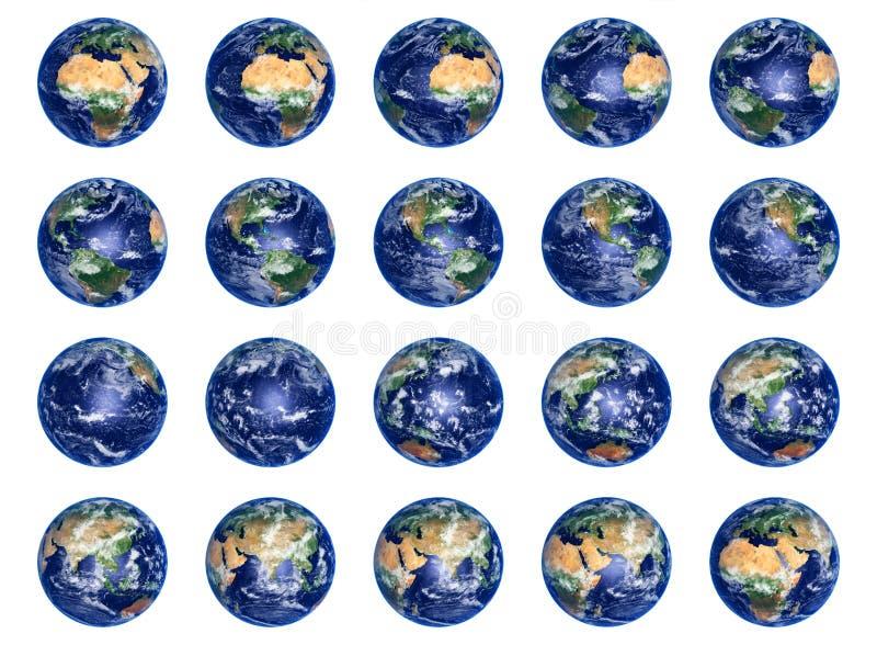 Erde-Kugelansammlung lizenzfreie abbildung