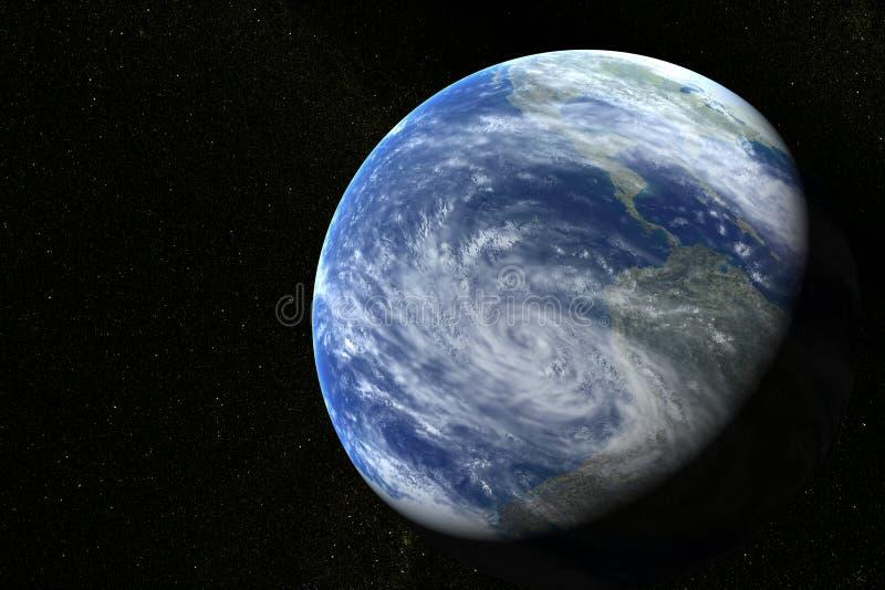 Erde mit Sternen stockbild