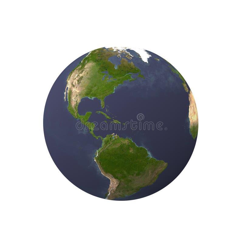 Erde mit weißem Hintergrund lizenzfreie abbildung