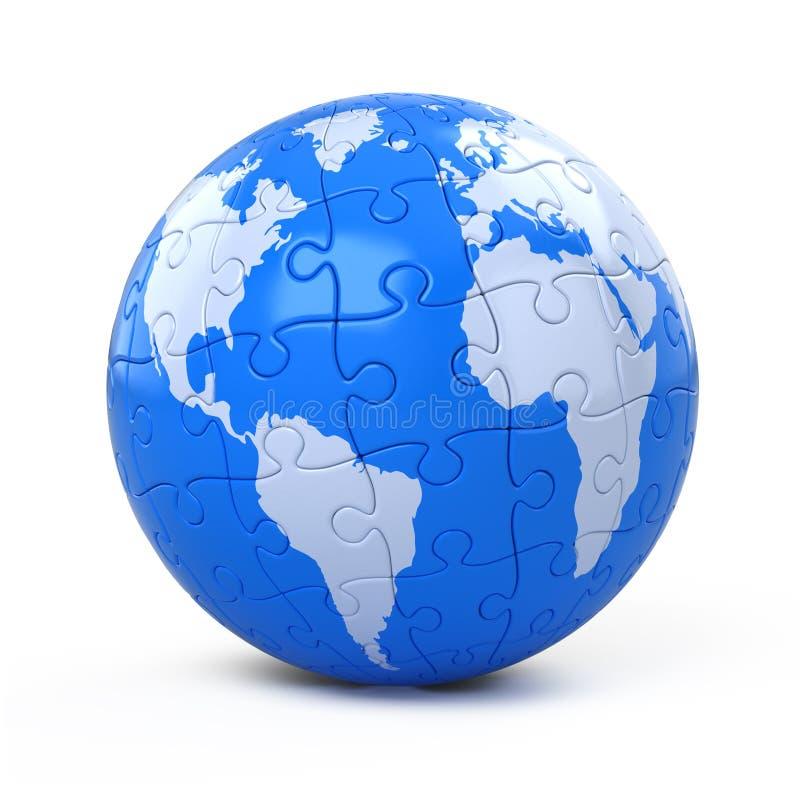 Erde montierte vom Puzzlespiel vektor abbildung