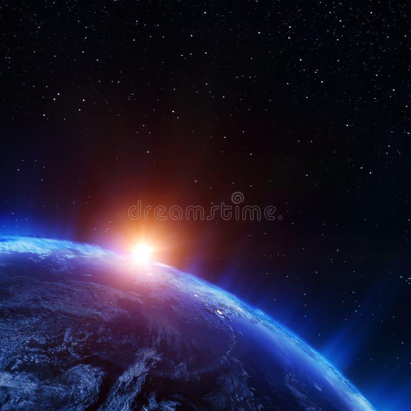 Erde Nord vom Raum vektor abbildung