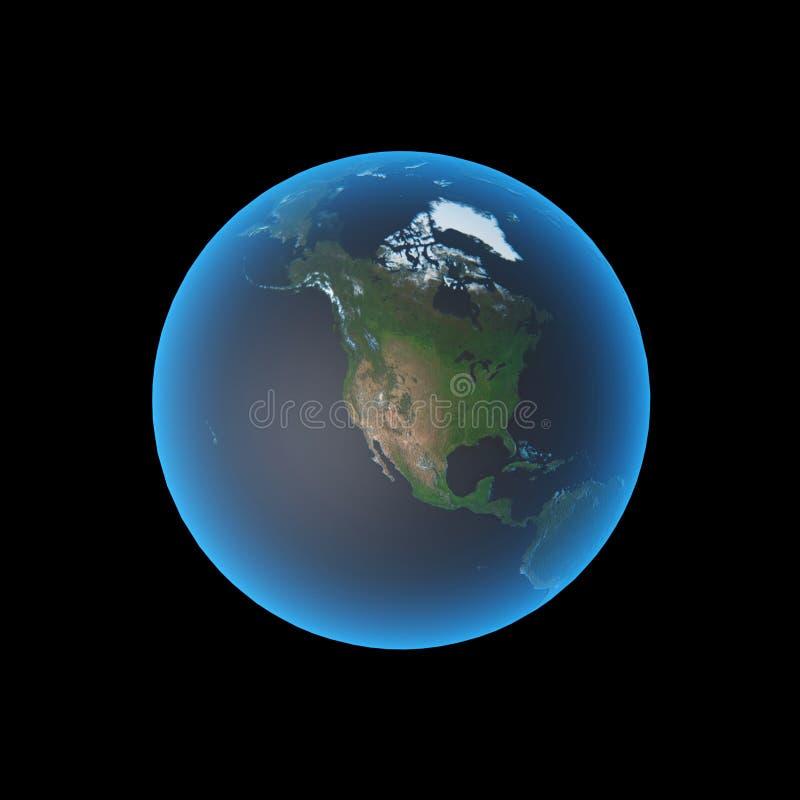Erde Nordamerika lizenzfreie abbildung