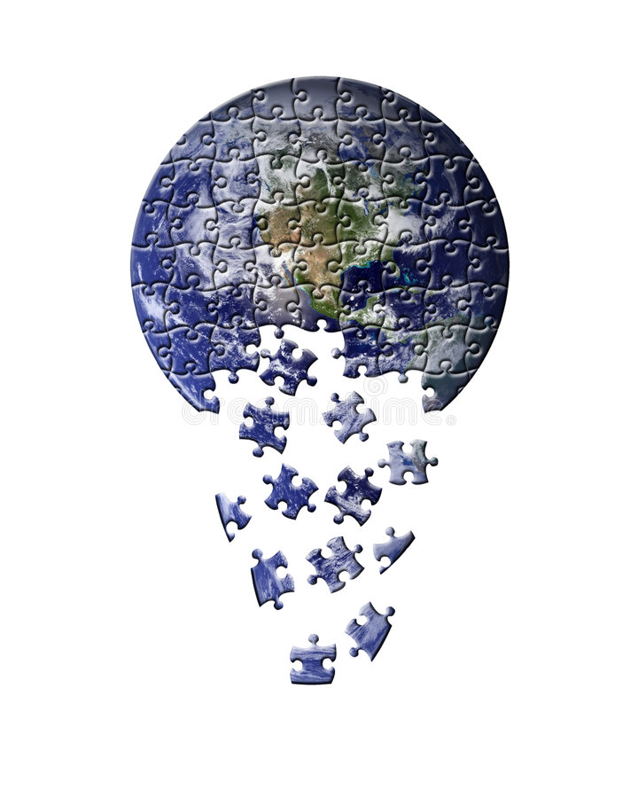 Erde-Puzzlespiel stock abbildung