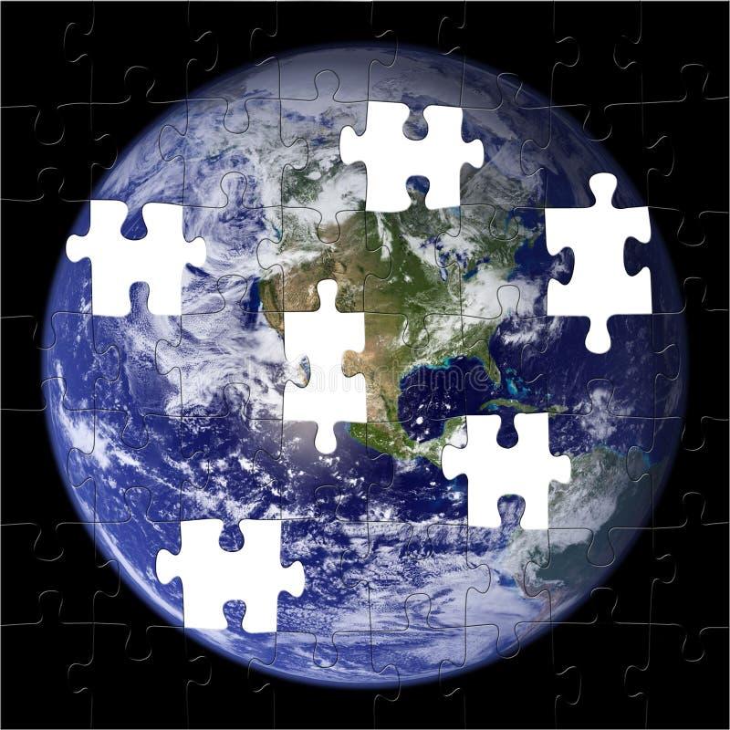 Erde-Puzzlespiel (die NASA-Foto) lizenzfreie abbildung
