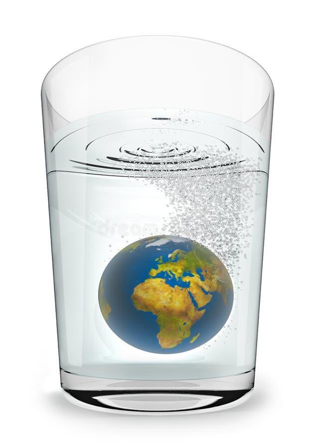 Erde Seltzer stock abbildung