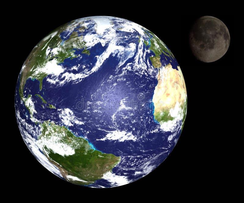 Erde u. Mond vektor abbildung