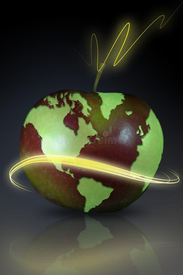Erde und Frucht lizenzfreie stockbilder