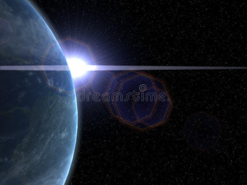 Erde und Sun lizenzfreie abbildung
