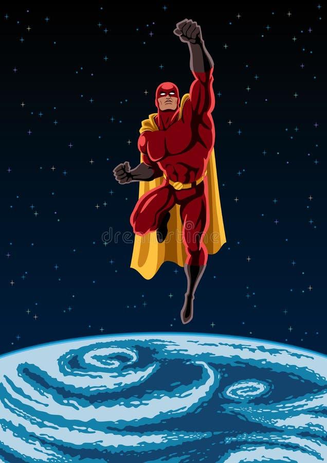 Erde und Superheld vektor abbildung