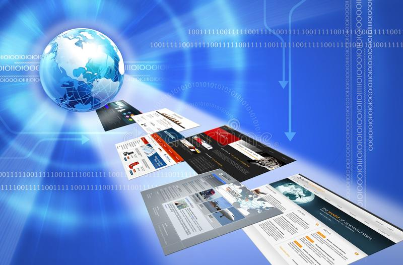 Erde- und Web-Schablonen stock abbildung