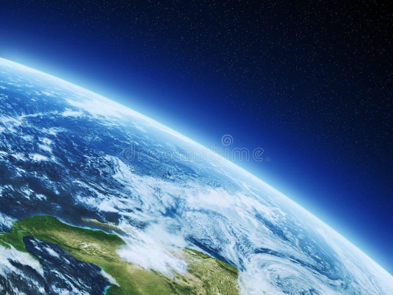 Erde vom Raum lizenzfreie abbildung