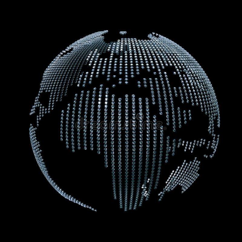 Erde von den Diamanten stock abbildung