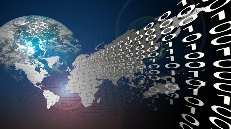 Erde-Zeit und Platz lizenzfreie abbildung