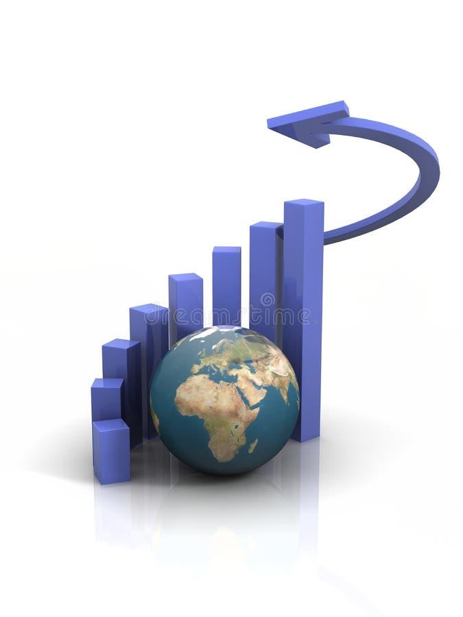 Erdediagramm lizenzfreie stockfotografie