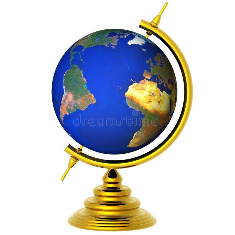 Erdekugel getrennt stock abbildung